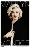 Marilyn Monroe - Black and Gold Masterprint