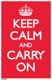 Keep Calm and Carry On - Red Masterprint