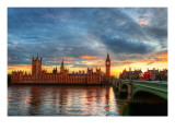 Approaching London Lmina fotogrfica de primera calidad por Trey Ratcliff