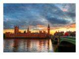 London närmar sig Fotografiskt tryck på högkvalitetspapper av Trey Ratcliff
