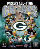 Green Bay Packers All Time Greats Composite Fotografía