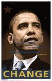 Obama - Change Masterprint