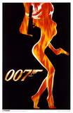 James Bond - Flame Girl Masterprint