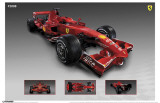 Ferrari - F2008 Race Car Masterprint