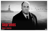 Sopranos - Tony with Statue of Liberty Masterprint