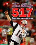 Tom Brady Most Passing Yards in New England Patriots History Overlay Photo