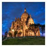 La Basilique du Sacre Coeur de Montmatre Premium Photographic Print by Trey Ratcliff