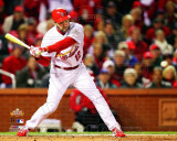 Lance Berkman 2 RBI Single Game 1 of the 2011 World Series Action (3) Photo