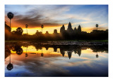 Sunrise Discovery of Angkor Wat Premium Photographic Print by Trey Ratcliff