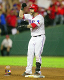 Mike Napoli celebrates his 2 Run Double Game 5 of the 2011 MLB World Series Action(22) Photo
