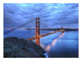 The Golden Gate Bridge at Dusk Premium Photographic Print by Trey Ratcliff