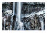 The Icy Part of the Waterfall Premium Photographic Print by Trey Ratcliff