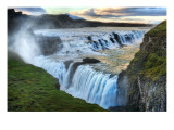 Alone at the Raging Waterfall of Gulfoss Premium Photographic Print by Trey Ratcliff