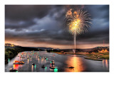 Fourth on Lake Austin Premium Photographic Print by Trey Ratcliff