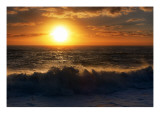 The Giant Sun Sinks into the Tasman Sea Premium Photographic Print by Trey Ratcliff