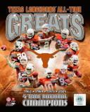 University of Texas Longhornss All Time Greats Composite Fotografa