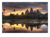 The Lotus Sunrise Premium Photographic Print by Trey Ratcliff