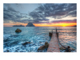 Distant Rocks Off Ibiza Premium Photographic Print by Trey Ratcliff
