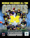 University of Michigan Wolverines All Time Greats Composite Photographie