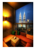 An Open Air Lounge in Kuala Lumpur Premium Photographic Print by Trey Ratcliff
