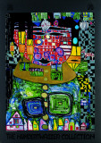 Antipode King Print by Friedensreich Hundertwasser