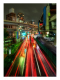 Zipping Through Tokyo Premium Photographic Print by Trey Ratcliff