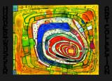 Insel IM Gelben Mer Posters af Friedensreich Hundertwasser