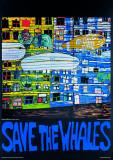 Save the Whales Plakat af Friedensreich Hundertwasser