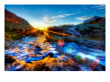 The River's Cool Morning Spray on my Lens Premium Photographic Print by Trey Ratcliff