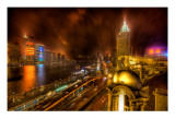 The Bund in the Rain Premium Photographic Print by Trey Ratcliff
