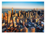 Chicago from a Chopper Premium Photographic Print by Trey Ratcliff