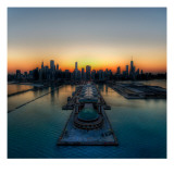 Chicago Thaws into Spring Premium Photographic Print by Trey Ratcliff