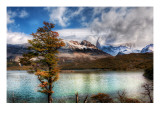 Stopping for Lunch at the Emerald Lake in the Andes Premium Photographic Print by Trey Ratcliff