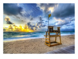 Alone at the Beach Premium Photographic Print by Trey Ratcliff