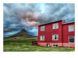 Green Mountain, Red House Premium Photographic Print by Trey Ratcliff