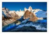The Two Glacial Lakes of the Southern Andes Premium Photographic Print by Trey Ratcliff