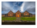 Three Houses with a Grass Roof Premium Photographic Print by Trey Ratcliff