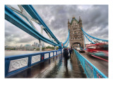 Crossing Tower Bridge in the Rain Premium Photographic Print by Trey Ratcliff