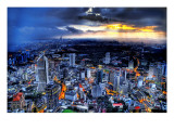 Sunset Storm over Kuala Lumpur Premium Photographic Print by Trey Ratcliff