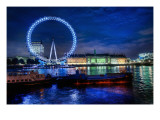 The London Eye Premium Photographic Print by Trey Ratcliff