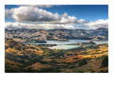 Driving to Akaroa Premium Photographic Print by Trey Ratcliff