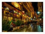 Bistrot de Lyon Premium Photographic Print by Trey Ratcliff