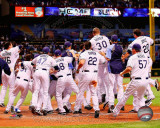 Tampa Bay Rays celebrate their 2011 AL Wild Card victory Photo