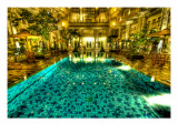 The pool that taunted me in Jogjakarta Premium Photographic Print by Trey Ratcliff