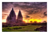 The Lost Hindu Temple in the Jungle Mist Premium Photographic Print by Trey Ratcliff