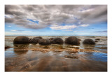 The Mysterious Moeraki Boulders Premium Photographic Print by Trey Ratcliff
