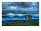 The Lonely Fishing Hut Premium Photographic Print by Trey Ratcliff