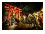 Midnight Adventure in the Japanese Cemetery Premium Photographic Print by Trey Ratcliff