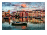 The Bay at Portofino Stampa fotografica Premium di Trey Ratcliff