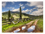 Approaching the Ranch Premium Photographic Print by Trey Ratcliff